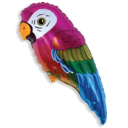 Супер попугай, гелиевый, фольгированный шар