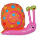 Улитка (фуксия), гелиевый, фольгированный шар