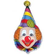 Клоун, гелиевый, фольгированный шар