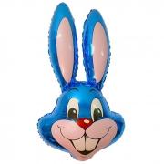Заяц (синий), гелиевый, фольгированный шар