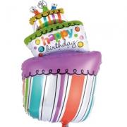 Happy Birthday Торт, гелиевый, фольгированный шар