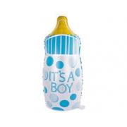 Бутылка в горошек голубая, гелиевый, фольгированный шар