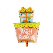 Happy Birthday Подарок, гелиевый, фольгированный шар