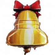 Колокольчик с ленточкой, гелиевый, фольгированный шар