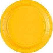 Тарелка бумажная Жёлтая (Yellow Sunshine)