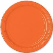 Тарелка бумажная Оранжевая (Orange Peel)