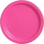 Тарелка бумажная Фуксия (Bright Pink)