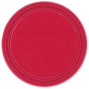 Тарелка бумажная Красная (Apple Red)