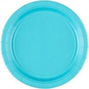 Тарелка бумажная Голубая (Caribbean Blue)