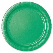 Тарелка бумажная Зелёная (Festive Green)