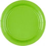 Тарелка бумажная Зелёная (Kiwi Green)