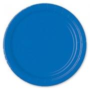 Тарелка бумажная Синяя (Marine Blue)