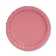Тарелка бумажная Розовая (Pink)