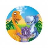Тарелка бумажная Динозаврики