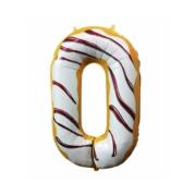 Цифра 0, Пончик, гелиевый, фольгированный шар