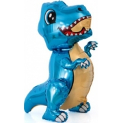Маленький динозавр, Синий, ходячая фигура, фольгированный шар