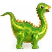Динозавр Стегозавр, Зеленый, ходячая фигура, фольгированный шар