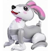 Заяц, Серый, ходячая фигура, фольгированный шар