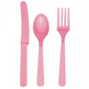 Столовые приборы, Pink, пластмассовые