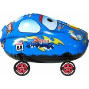 Гоночная машинка, Синий, ходячая фигура, гелиевый, фольгированный шар