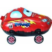 Гоночная машинка, Красный, ходячая фигура, гелиевый, фольгированный шар