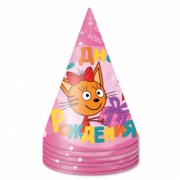 Колпак Три Кота, С Днем Рождения!, Розовый