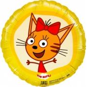 Три Кота, Карамелька, Желтый, гелиевый, фольгированный шар