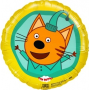 Три Кота, Компот, Желтый, гелиевый, фольгированный шар