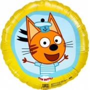 Три Кота, Коржик, Желтый, гелиевый, фольгированный шар