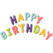 "Буквы ""Happy Birthday"", Макарунс, Ассорти"