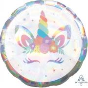 Единорог спящий, переливы, гелиевый, фольгированный шар