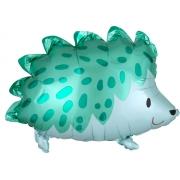 Ежик зеленый, гелиевый, фольгированный шар