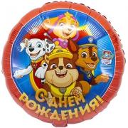 Днём Рождения Щенячий Патруль, фольгированный шар