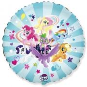 Пони команда (My little pony), гелиевый, фольгированный шар