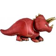 Динозавр Трицератопс, гелиевый, фольгированный шар