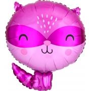 Енот фиолетовый, гелиевый, фольгированный шар