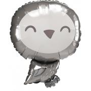 Сова серая, гелиевый, фольгированный шар