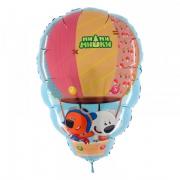 Ми-Ми-Мишки на воздушном шаре, гелиевый, фольгированный шар
