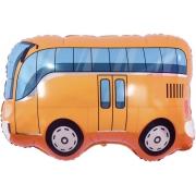 Автобус, Оранжевый, гелиевый, фольгированный шар