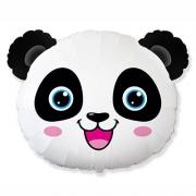 Голова Панды, гелиевый, фольгированный шар