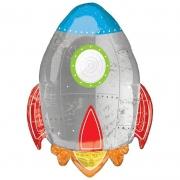 Ракета Blast off Birthday, гелиевый, фольгированный шар