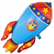 Космическая ракета, гелиевый, фольгированный шар