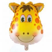 Голова жирафа, гелиевый, фольгированный шар