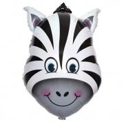 Голова зебры, гелиевый, фольгированный шар