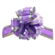 """Бант-шар №5 """"Воздушные сердца"""", цвет фиолетовый"""