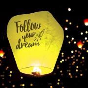 Фонарик желаний Follow your dream, жёлтый