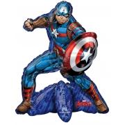 Капитан Америка, ходячая фигура, фольгированный шар