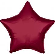 """Звезда, 19"""", Звезда Металлик Burgundy (бургундия), фольгированный шар"""