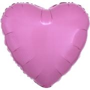 """Сердце, 19"""", Металлик Pink (розовый), фольгированный шар"""