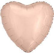 """Сердце, 19"""", Металлик Rose Gold (розовое золото), фольгированный шар"""